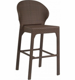 Whitecraft by Woodard Bali Armless Wicker Stool
