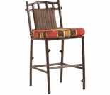 Whitecraft by Woodard Chatham Run Wicker Armless Bar Stool