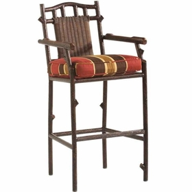 Whitecraft by Woodard Chatham Run Wicker Bar Stool with Arms