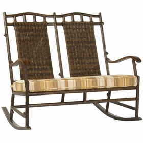 Whitecraft by Woodard Chatham Run Wicker Double Rocker