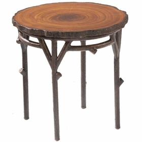 Whitecraft by Woodard Chatham Run Wicker End Table with Faux Top