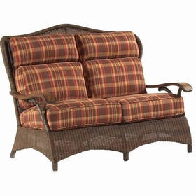 Whitecraft by Woodard Chatham Run Wicker Loveseat