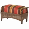 Whitecraft by Woodard Chatham Run Wicker Ottoman