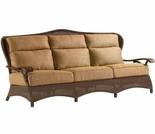 Whitecraft by Woodard Chatham Run Wicker Sofa