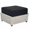 Whitecraft by Woodard Isabella Wicker Ottoman