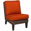 Whitecraft by Woodard Mona Wicker Armless Chair