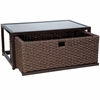 Whitecraft by Woodard Mona Wicker Coffee Table with Drawer