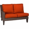 Whitecraft by Woodard Mona Wicker Left Arm Facing Loveseat Sectional