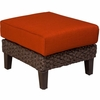 Whitecraft by Woodard Mona Wicker Ottoman
