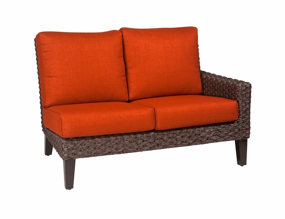 Whitecraft by Woodard Mona Wicker Right Arm Facing Loveseat Sectional