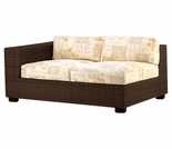 Whitecraft by Woodard Montecito Wicker Loveseat Sectional- Left Arm Facing