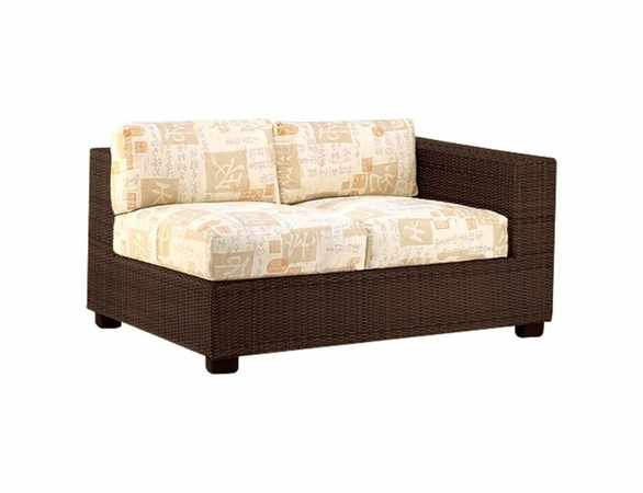 Whitecraft by Woodard Montecito Wicker Loveseat Sectional- Right Arm Facing