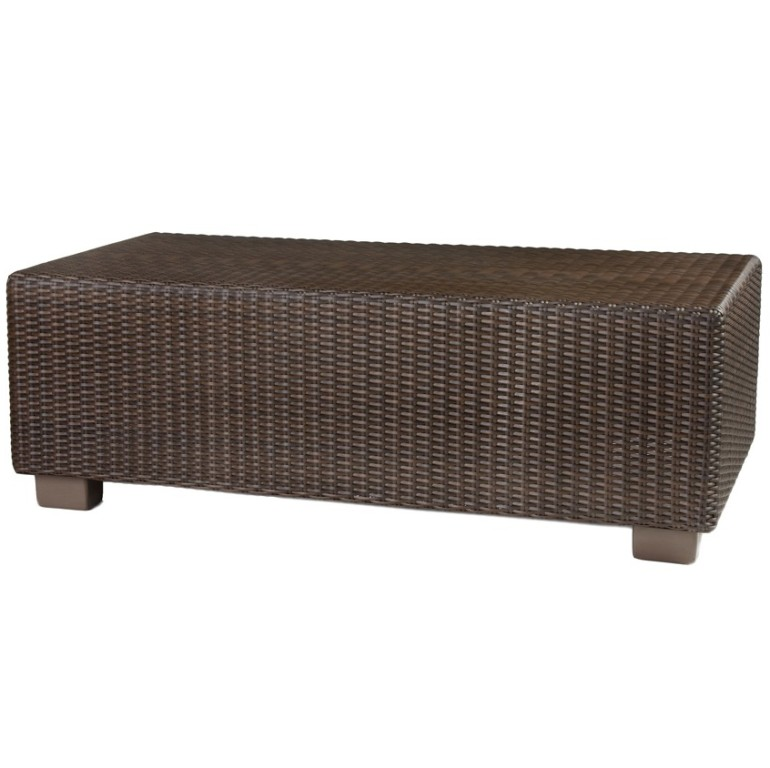 Whitecraft by Woodard Montecito Wicker Rectangular Coffee Table - Whitecraft By Woodard Montecito Rectangle Coffee Table