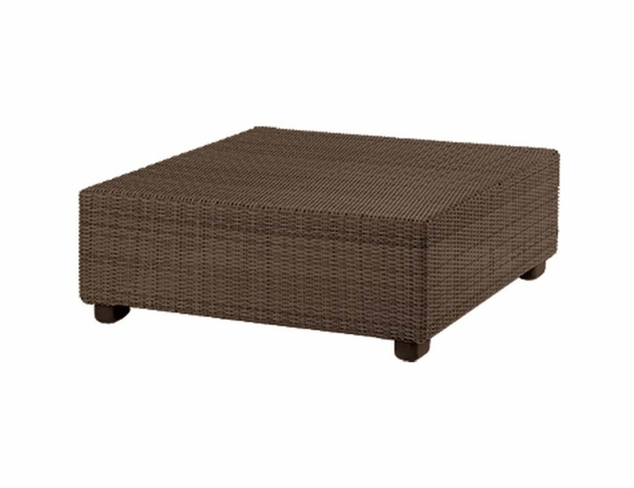 Whitecraft by Woodard Montecito Wicker Square Coffee Table