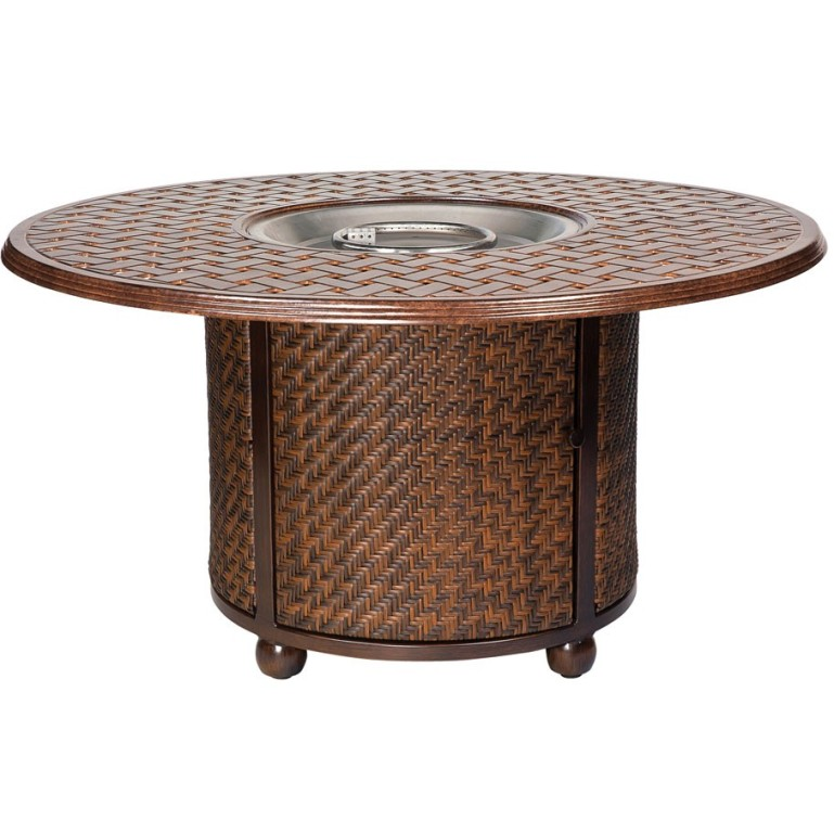 Whitecraft by Woodard North Shore Wicker Fire Pit with Woven Base and  Thatch Top - Whitecraft By Woodard North Shore Wicker Fire Pit