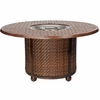 Whitecraft by Woodard North Shore Wicker Fire Pit with Woven Base and Thatch Top