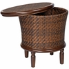 Whitecraft by Woodard North Shore Wicker Storage End Table
