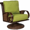 Whitecraft by Woodard North Shore Wicker Swivel Rocking Lounge Chair