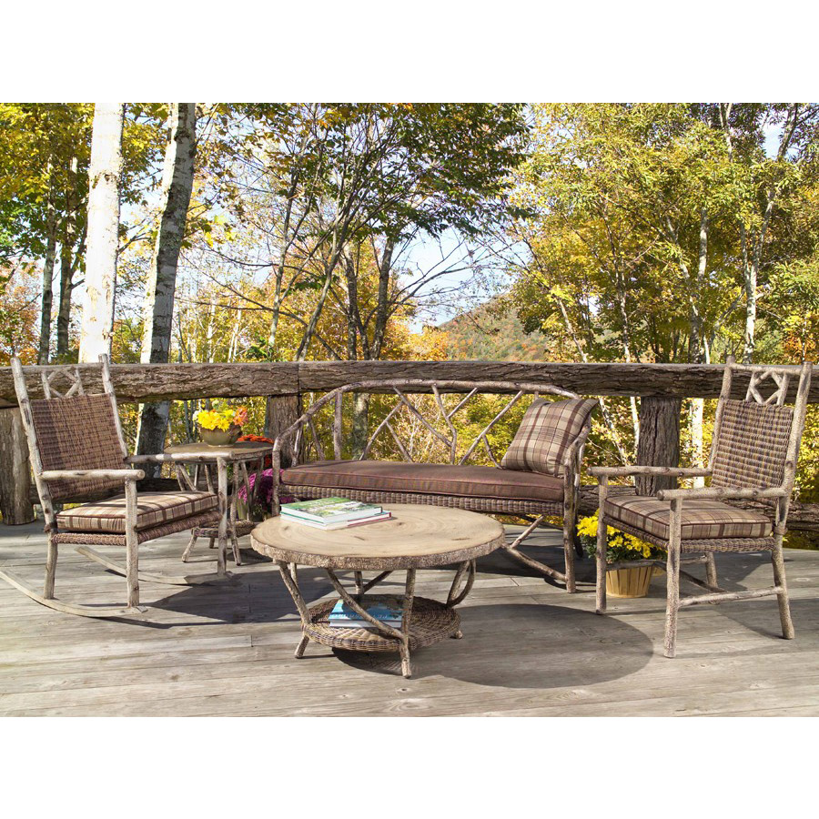 Enjoyable Whitecraft By Woodard River Run Bench Seating Set Pabps2019 Chair Design Images Pabps2019Com