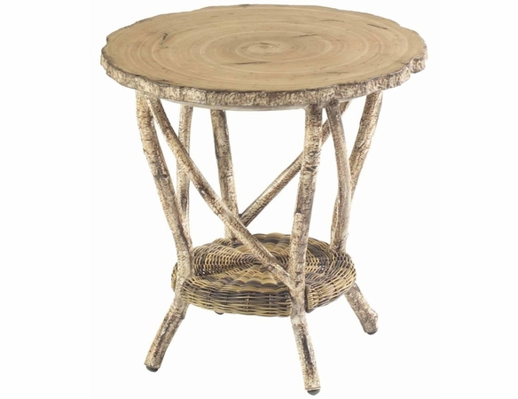 Woodard Whitecraft River Run Faux Bois End Table