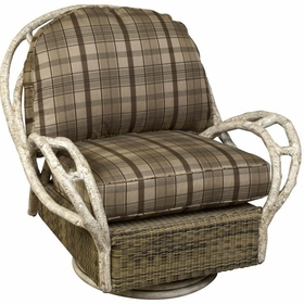 Whitecraft by Woodard River Run Wicker Swivel Lounge