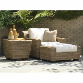 Whitecraft by Woodard Saddleback Lounging Set