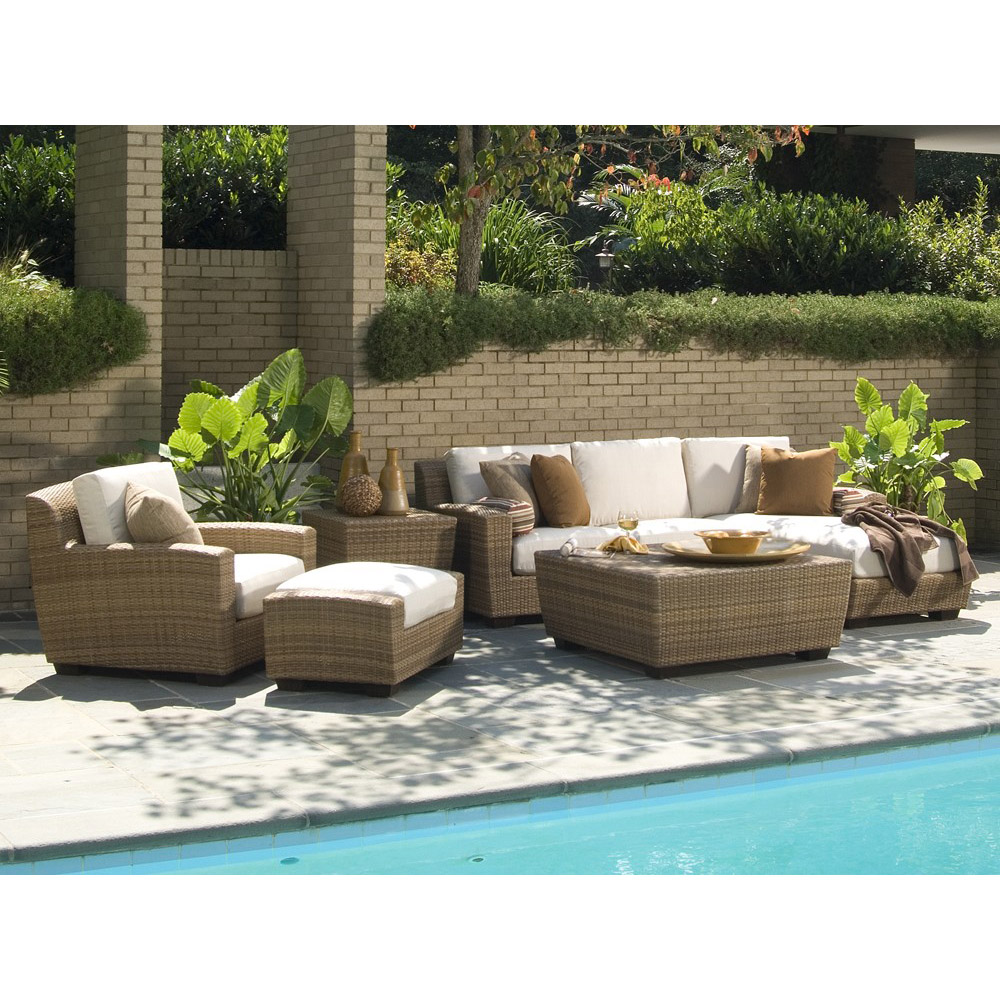 Woodard Whitecraft Saddleback Sofa Seating Set