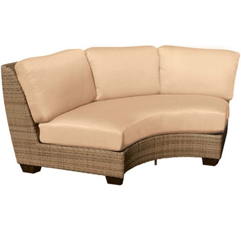 Woodard Saddleback Wicker Curved Sectional Unit