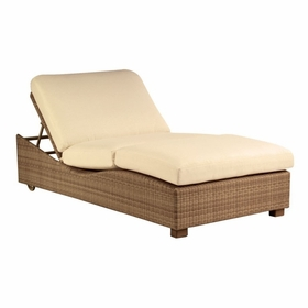 Whitecraft by Woodard Saddleback Wicker Double Chaise Lounge