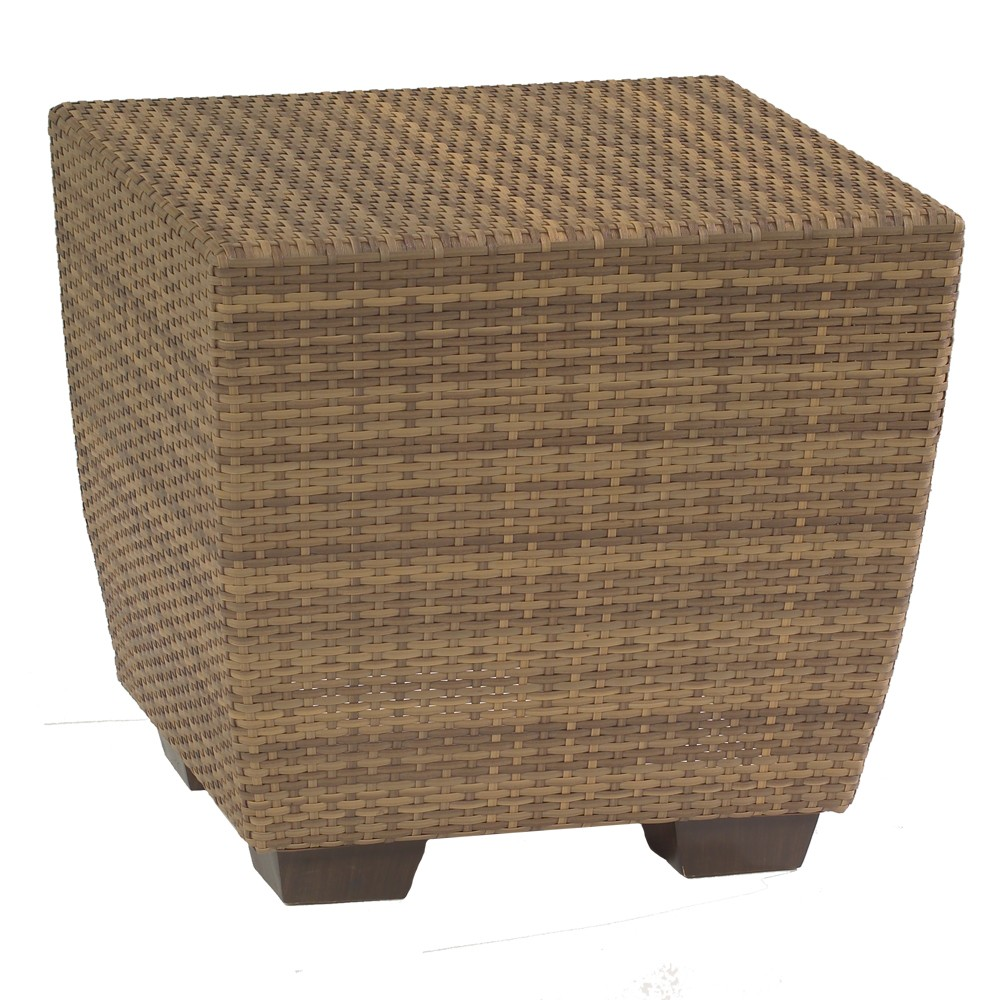 Woodard Whitecraft Saddleback Wicker End Table