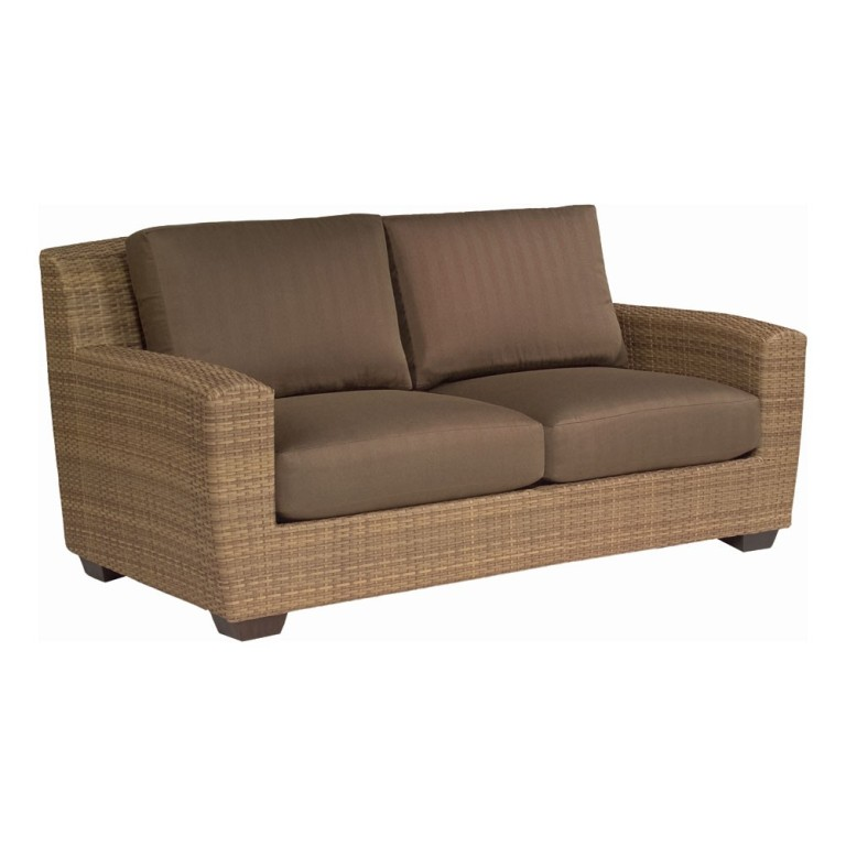 Woodard Whitecraft Saddleback Wicker Loveseat