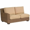 Whitecraft by Woodard Saddleback Wicker Loveseat Sectional- Left Arm Facing