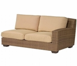 Whitecraft by Woodard Saddleback Wicker Loveseat Sectional- Right Arm Facing