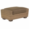 Whitecraft by Woodard Saddleback Wicker Ottoman