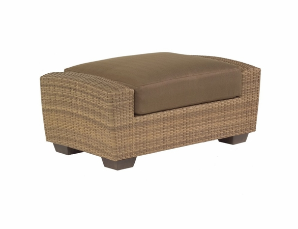 Woodard Whitecraft Saddleback Wicker Ottoman