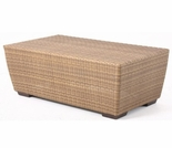 Whitecraft by Woodard Saddleback Wicker Rectangular Coffee Table