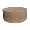 Whitecraft by Woodard Saddleback Wicker Round Coffee Table