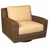 Whitecraft by Woodard Saddleback Wicker Swivel Lounge