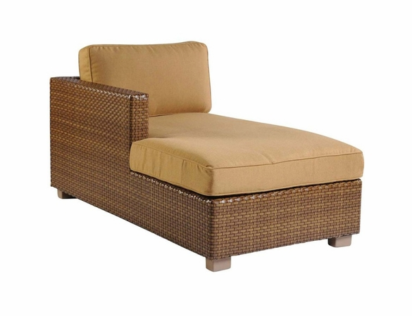 Whitecraft by Woodard Sedona Wicker Chaise Lounge Sectional- Left Arm Facing