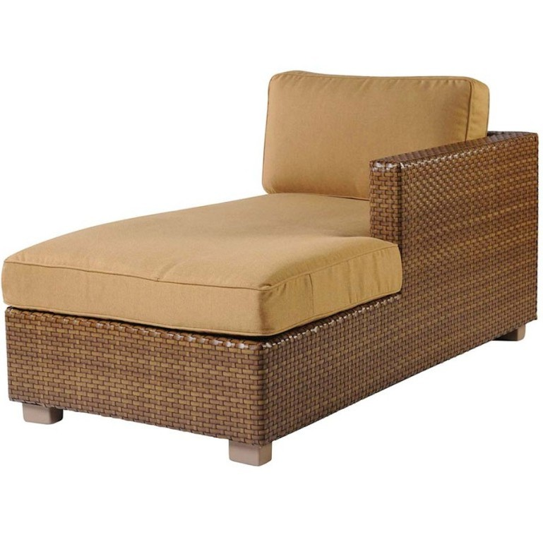 Woodard Sedona Wicker Right Arm Chaise Lounge Sectional