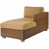 Whitecraft by Woodard Sedona Wicker Chaise Lounge Sectional- Right Arm Facing
