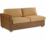 Whitecraft by Woodard Sedona Wicker Loveseat Sectional- Left Arm Facing