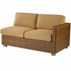 Whitecraft by Woodard Sedona Wicker Loveseat Sectional- Right Arm Facing