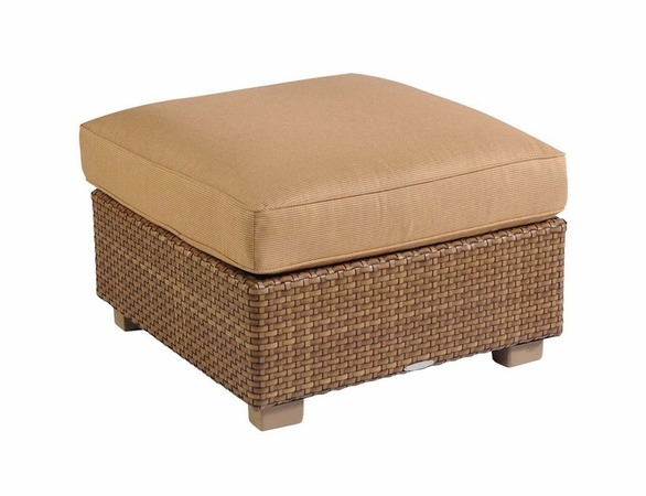 Whitecraft by Woodard Sedona Wicker Ottoman
