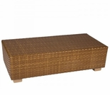 Whitecraft by Woodard Sedona Wicker Rectangular Coffee Table