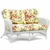 Whitecraft by Woodard Sommerwind Wicker Loveseat