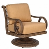 Whitecraft by Woodard South Shore Wicker Swivel Rocking Lounge Chair