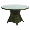"Whitecraft by Woodard Trinidad Wicker 48"" Round Umbrella Dining Table"
