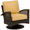 Whitecraft by Woodard Trinidad Wicker Swivel Lounge Chair