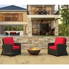 Wicker Forever Patio 2 Pc Barbados Seating Chat Set